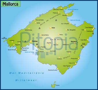 Mallorca Karte Alcudia.Bildagentur Pitopia Bilddetails Karte Von Mallorca Artalis
