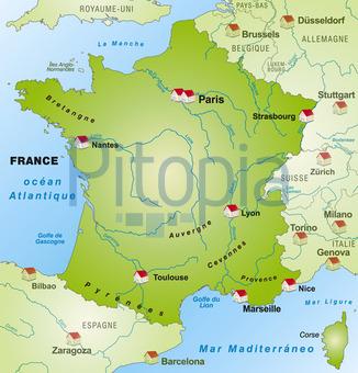 Frankreich Karte Stadte.Bildagentur Pitopia Bilddetails Karte Von Frankreich