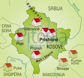 Kosovo Karte Europa.Bildagentur Pitopia Bilddetails Karte Des Kosovo