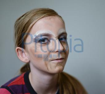 Bildagentur Pitopia Bilddetails Geschminktes Madchen Luna Bild