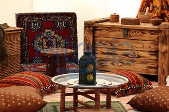 schlafzimmer orientalischen stil: tapeten mit orientalischem touch